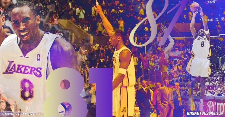 81 points : le jour où Kobe Bryant a marqué l'histoire à jamais