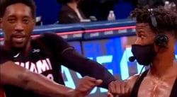 BAM tente de pourrir l'interview de Jimmy Butler avec une danse culte