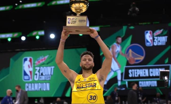 Curry, Simons et Sabonis rois des concours du All-Star Game 2021