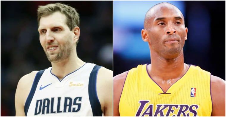 Kobe Bryant rêvait de jouer avec Dirk Nowitzki et l'a un peu dragué