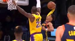 Jordan Poole a voulu claquer le poster de l'année sur LeBron James
