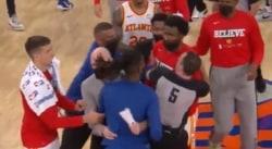 Les Knicks et les Hawks ont fini leur série sur un début de bagarre