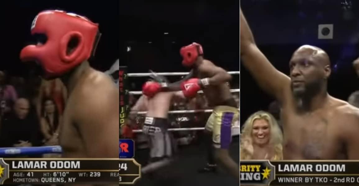 Lamar Odom explose Aaron Carter dans un combat ridicule