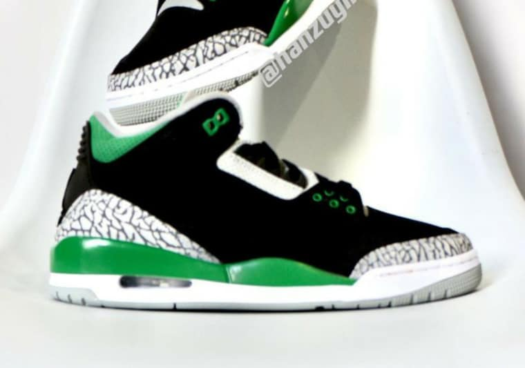 Les premières images de la Air Jordan 3 Pine Green