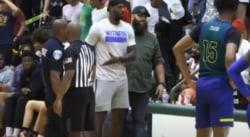 LeBron stoppe un match de Bronny pour remettre en place un speaker irrespectueux