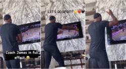LeBron coache son fils devant sa télé comme un fou furieux