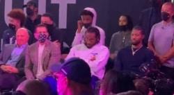 Kawhi s'ennuie ferme à la cérémonie des Clippers… et n'arrive pas à le cacher