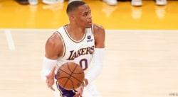 Russell Westbrook assume son démarrage raté avec les Lakers et en plaisante